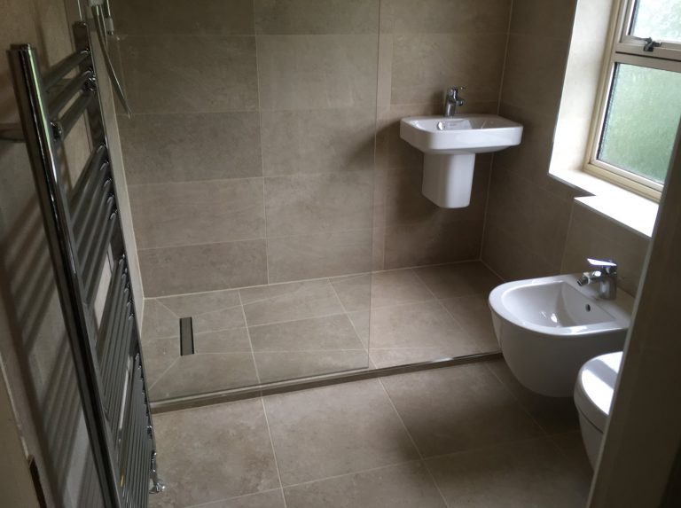 Bathroom with feature Wet Room installed in Belper
