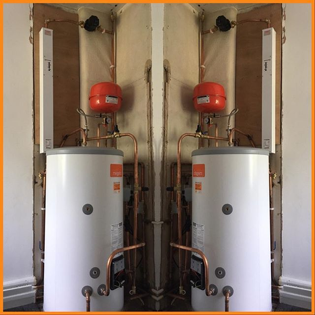 Electric boiler with an unvented cylinder.