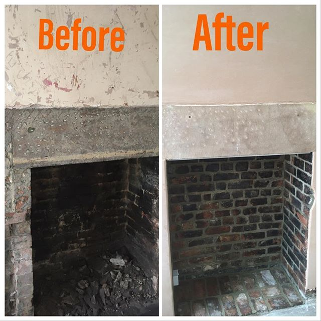 Fireplace alterations & renovations. Original stone lintel cleaned back to new condition. All original bricks cleaned & pointed with a fresh coat of plaster on the chimney breast. just plymbing&heating