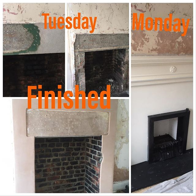 Fireplace Progression. #morethanjustplumbing&heating