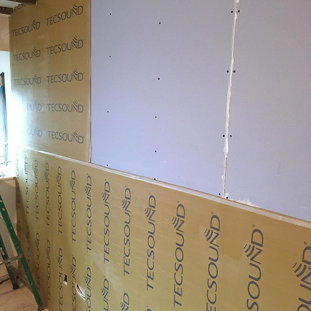 Sound proofing at a customers house.
